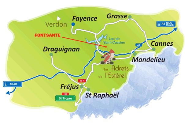 Non au projet de Fonstante - Lac de Saint Cassien - Massif de l'Estérel
