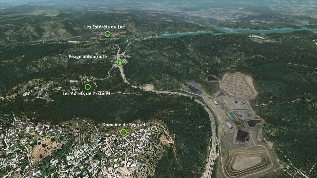 Le site de Fontsante avec Suez