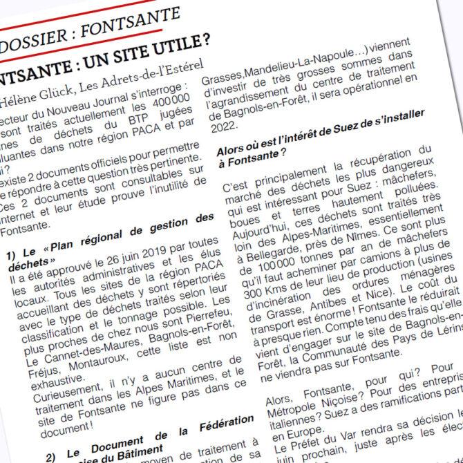 Fontsante Correspondances et actualités