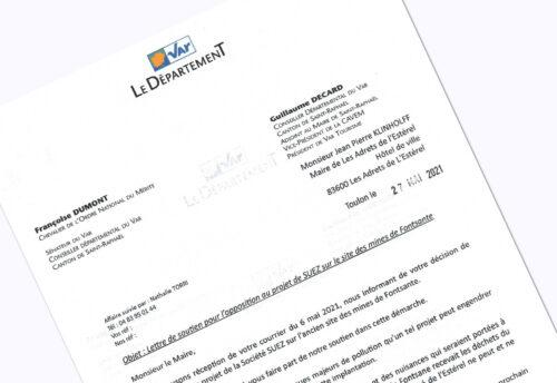 Fontsante soutien de Madame Françoise Dumont et Monsieur Guillaume Decard