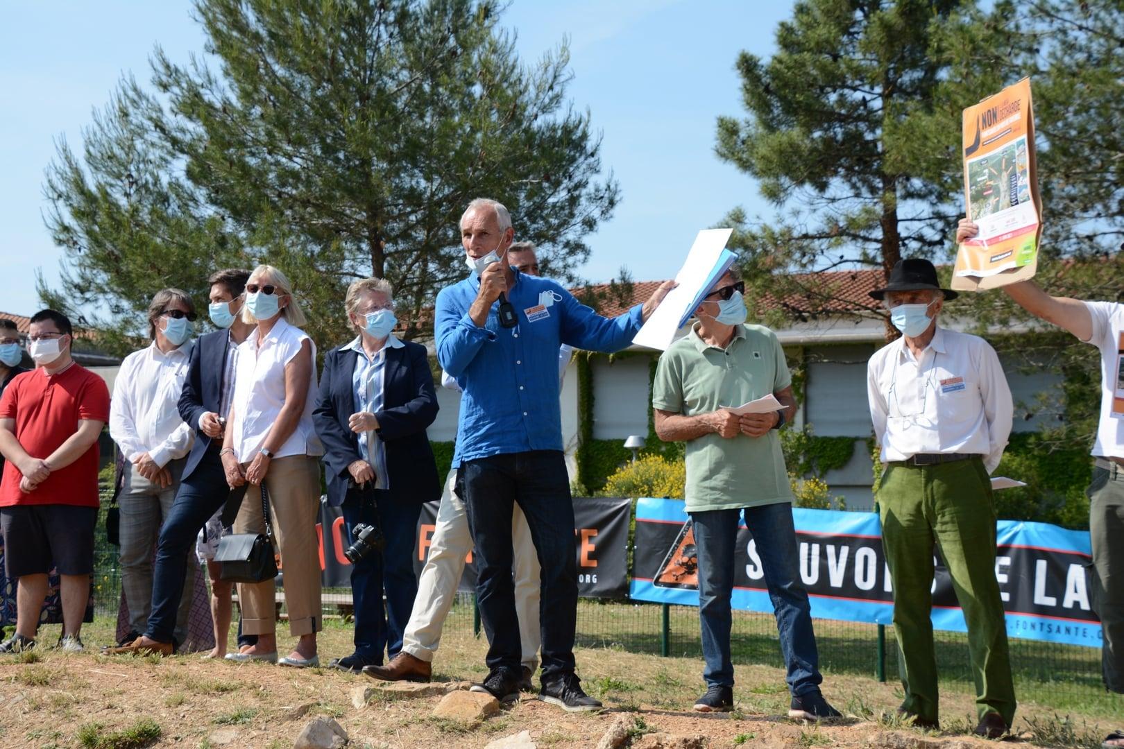 Manifestation du 12 juin 2021 contre la décharge de Fontsante
