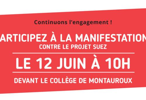 Manifestation 12 juin 2021 contre FONTSANTE